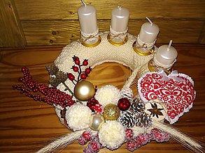 Dekorácie - Adventný venček pletený - 10004227_