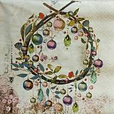 Papier - S1330 - Servítky - Vianoce, girlanda, gule, ozdoby - 10001470_