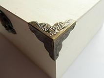 Komponenty - Kovový roh na krabičku, 2,5x2,5 cm - 10002814_