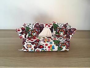 Krabičky - Predaný Obal na servítky - Farebný svet motýľov - 10003062_