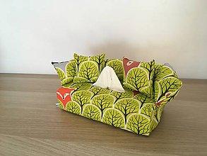 Krabičky - Obal na servítky - Schovávačka v lese zelený - 10003130_