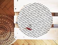 Úžitkový textil - Prestieranie/obrus režný - noty - 10002526_