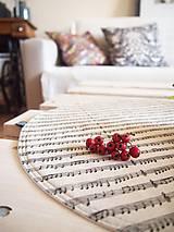 Úžitkový textil - Prestieranie/obrus režný - noty - 10002527_