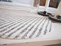 Úžitkový textil - Prestieranie/obrus režný - noty - 10002529_