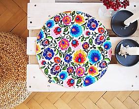 Úžitkový textil - Prestieranie/obrus - folk kvety na bielej - 10001718_