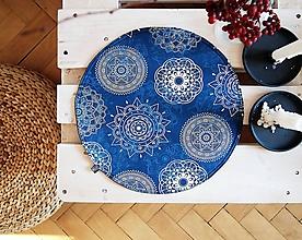 Úžitkový textil - Prestieranie/obrus - mandaly v modrej - 10001735_