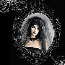 Ozdoby do vlasov - Čierny závoj pre gotickú nevestu - 10004479_