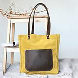 Kožená kabelka Vera (žlto-hnedá)
