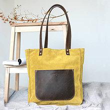 Kabelky - Kožená kabelka Vera (žlto-hnedá) - 10001395_