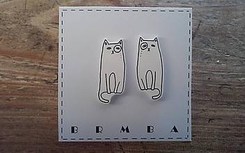 Náušnice - kočičáci - 10002779_