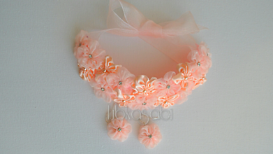 Sady šperkov - Kvetinová sada - náhrdelník a náušnice Leia - 10003874_
