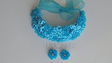 Sady šperkov - Kvetinová sada - náhrdelník a náušnice Inaya - 10003876_