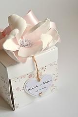 Papiernictvo - Svadobný exploding box- gypsomilka - 10001754_
