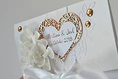 Papiernictvo - Svadobná obálka na peniaze - 10001806_