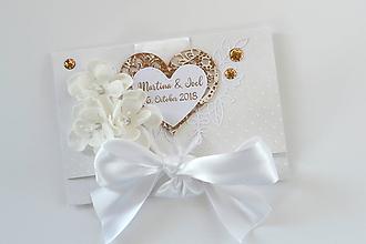 Papiernictvo - Svadobná obálka na peniaze - 10001807_