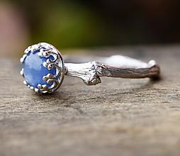 Prstene - Větvičkový s nebeským kyanitem - 10003965_