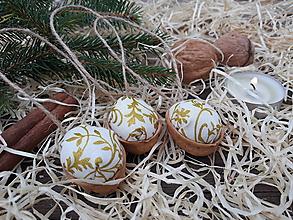 Dekorácie - Vianočné oriešky - 10003470_