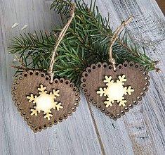 Dekorácie - Vianočné drevené «medovníkové« ozdoby - 10002083_