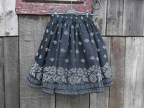 Sukne - Dámska folklórna sukňa super točivá (Bordová) - 10003165_