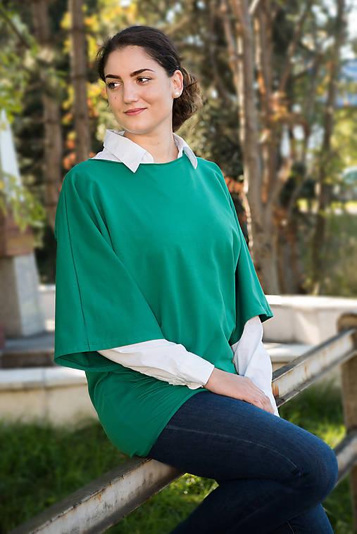 54018b8c4bf5 Tunika Naty - zelená   miracles.style - SAShE.sk - Handmade Tuniky