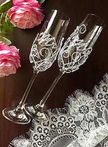Nádoby - Svadobné pohare Mr.&Mrs. - 10003412_