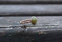 Prstene - Unakit pozlátený prsteň Ag 925/1000 AKCIA ! - 10001320_