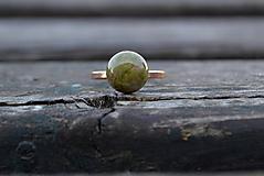 Prstene - Unakit pozlátený prsteň Ag 925/1000 AKCIA ! - 10001322_
