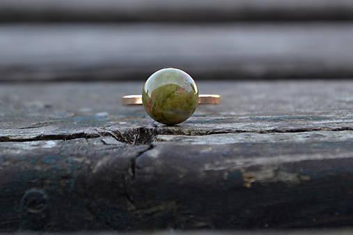Unakit pozlátený prsteň Ag 925/1000 AKCIA !