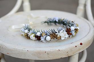 Ozdoby do vlasov - Zlatý vianočný venček - 10001251_