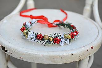 Ozdoby do vlasov - Vianočný venček s bobuľkami - 10001257_