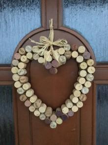 Dekorácie - Korkové srdce - 10004649_