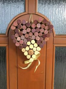 Dekorácie - Vínové srdce - 10004662_