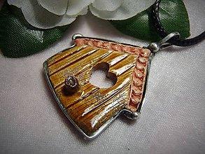 Náhrdelníky - keramika ..vtáčia búdka - 10004305_