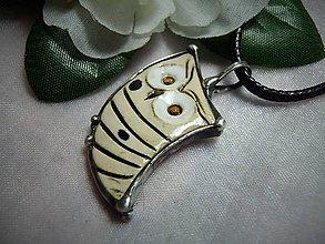Náhrdelníky - keramika ...sovička - 10004361_