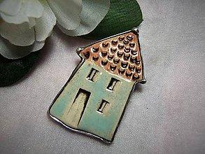 Odznaky/Brošne - keramika ...domček - 10004583_