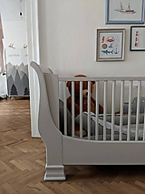 Nábytok - Detská postieľka s obrázkami - predaná - 10002540_