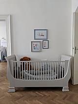 Nábytok - Detská postieľka s obrázkami - predaná - 10002542_