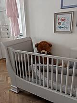 Nábytok - Detská postieľka s obrázkami - predaná - 10002545_