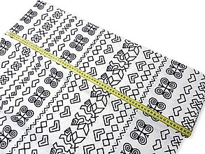 Papiernictvo - Obal na knihu - čičmany (veľký vzor I.) (S (26 x 17 cm, bežná kniha A5) - Modrá) - 10001093_