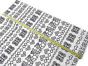 Papiernictvo - Obal na knihu - čičmany (veľký vzor I.) (M (29 x 21 cm, atypický rozmer knihy) - Modrá) - 10001094_