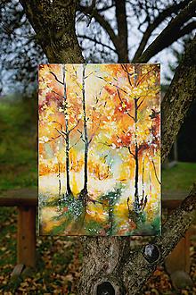Obrazy - Jeseň v korunách-z etapy kraje a ich premena-Jeseň - 10001469_