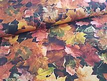 Textil - jesenné lístie - 10002455_
