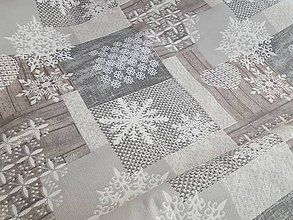 Textil - vianočná natur  látka - 10002541_