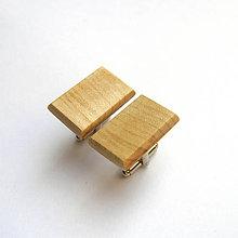 Šperky - Javorové obdĺžniky - 10003586_