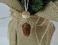 - Vianočné ozdoby zo žaluďov, muchotrávky (Panáčik zo žaluďa) - 10004049_