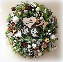 """Dekorácie - Veniec """"Veselé Vianoce"""" - 10006284_"""