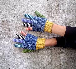 Rukavice - Prstové rukavice rôznoprsté - 10005220_