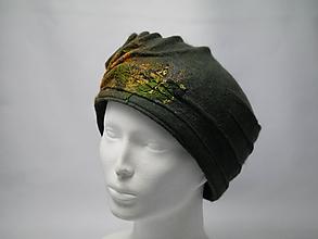 Čiapky - Zelená špirála-vlnený klobúčik - 10007637_