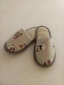Obuv - papučky snehuliak - 10006978_
