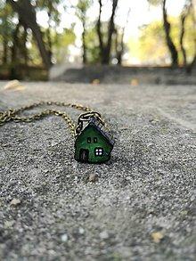 Náhrdelníky - Rozprávkový domček - zelený - 10007213_